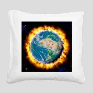 Global warming Square Canvas Pillow