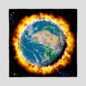 Global warming Queen Duvet