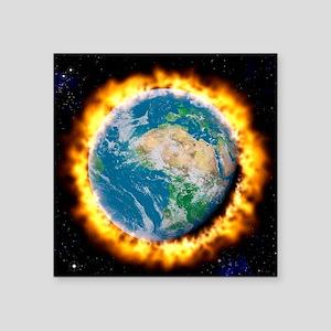 "Global warming Square Sticker 3"" x 3"""