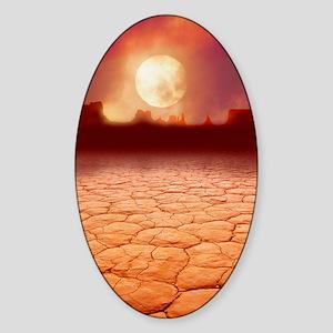 Global warming Sticker (Oval)