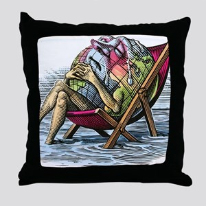 Global warming, conceptual image Throw Pillow