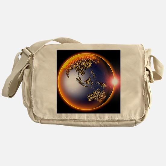 Global warming, conceptual image Messenger Bag