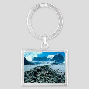 Glacial moraine Landscape Keychain