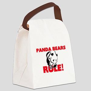Panda Bears Rule! Canvas Lunch Bag