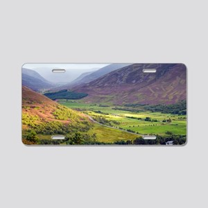 Glen Clunie, Scotland, UK Aluminum License Plate