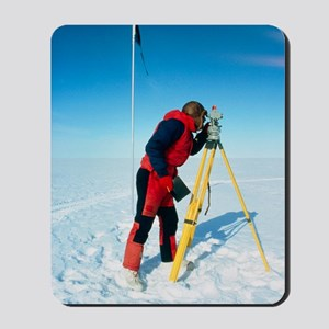 Glaciologist using theodolite on Ronne I Mousepad