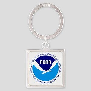 NOAA Square Keychain