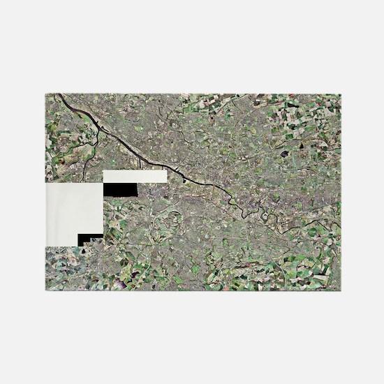 Glasgow, UK, aerial image Rectangle Magnet