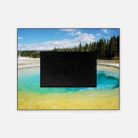 Geothermal pool in Yellowstone Natio Picture Frame