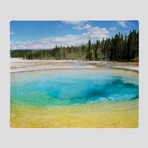 Geothermal pool in Yellowstone Natio Throw Blanket