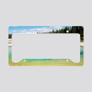 Geothermal pool in Yellowston License Plate Holder