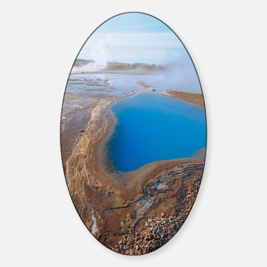 Geothermal pool Sticker (Oval)