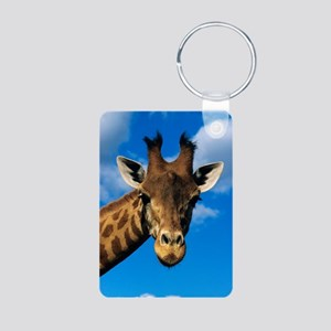 Giraffe Aluminum Photo Keychain