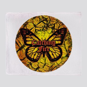 Catching Fire Butterflies Throw Blanket