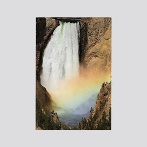Lower Yellowstone Falls and spray Rectangle Magnet