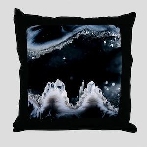 Geode interior Throw Pillow