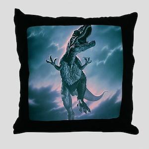 Giant Allosaurus dinosaur Throw Pillow