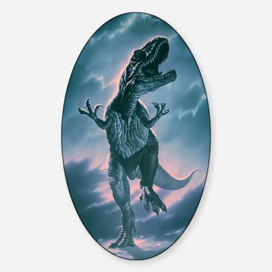 Giant Allosaurus dinosaur Sticker (Oval)