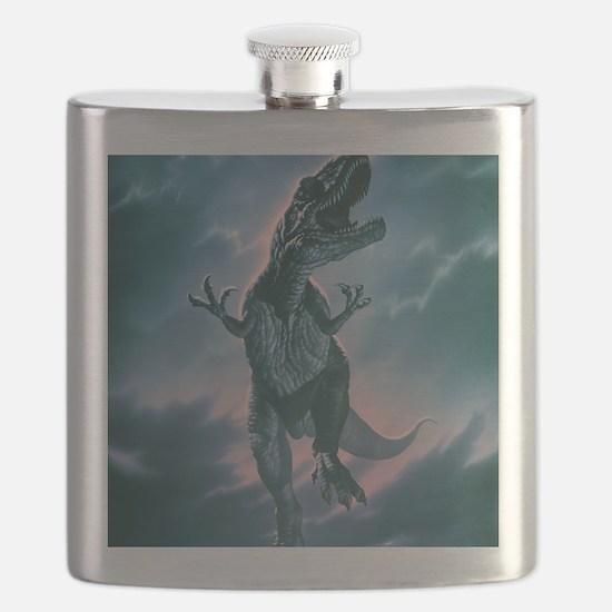 Giant Allosaurus dinosaur Flask