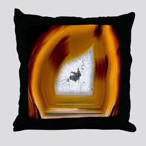 Geode interior Throw Pillow