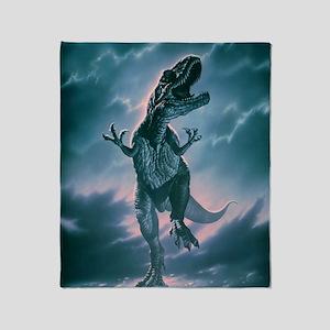 Giant Allosaurus dinosaur Throw Blanket
