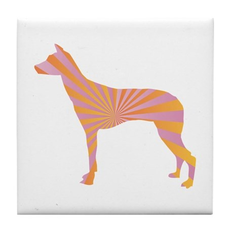 Inca Orchid Rays Tile Coaster