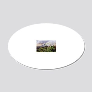 Fumarole vents 20x12 Oval Wall Decal