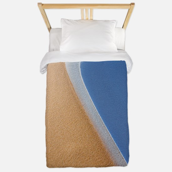 Frost covered sand dunes Twin Duvet