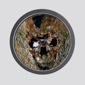 Fossilised skull of a Homo erectus boy  Wall Clock