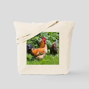 Free-range chickens Tote Bag