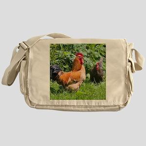 Free-range chickens Messenger Bag