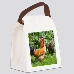 Free-range chickens Canvas Lunch Bag
