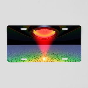 Laser reading digital pits  Aluminum License Plate