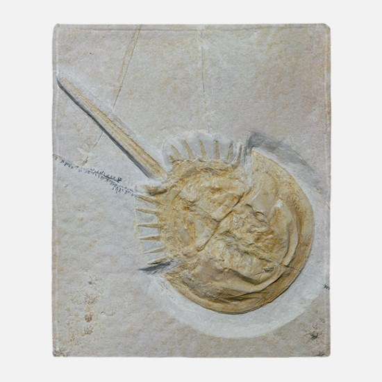 Fossilised horseshoe crab Throw Blanket
