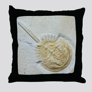 Fossilised horseshoe crab Throw Pillow