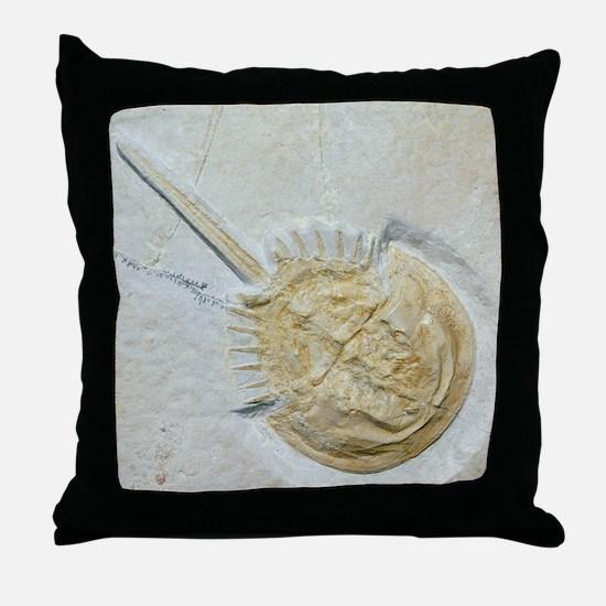Fossilised horseshoe crab Throw Pillow