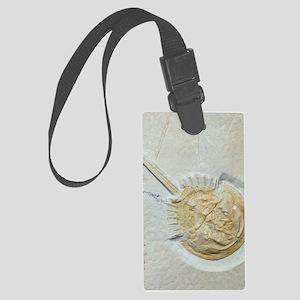 Fossilised horseshoe crab Large Luggage Tag
