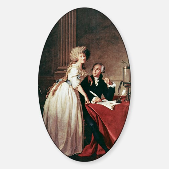 Lavoisier and his wife, 1788 Sticker (Oval)