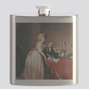 Lavoisier and his wife, 1788 Flask