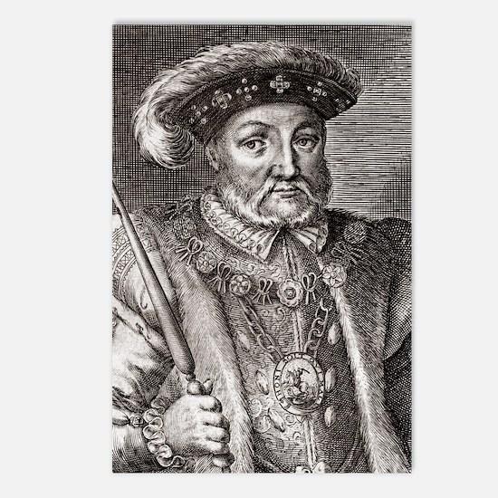 King Henry VIII of Englan Postcards (Package of 8)