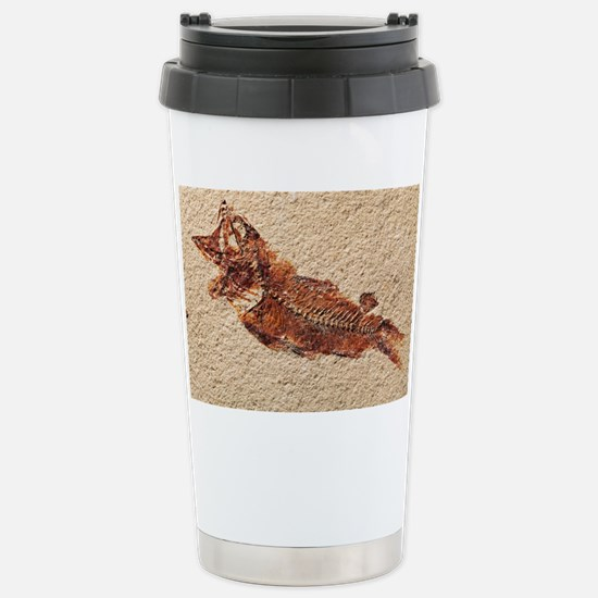 Fossilised fish Stainless Steel Travel Mug