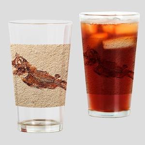 Fossilised fish Drinking Glass