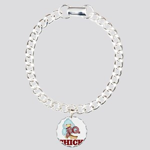 BBQ Chick Charm Bracelet, One Charm