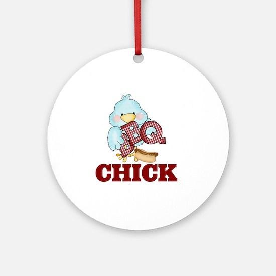 BBQ Chick Round Ornament