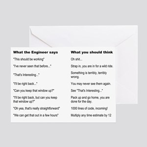 Engineer Translation Guide Greeting Card
