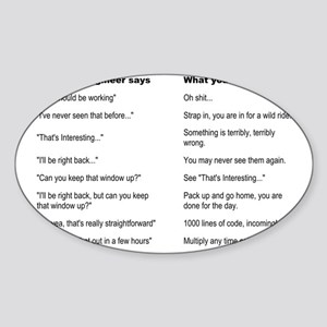 Engineer Translation Guide Sticker (Oval)