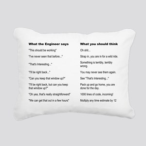 Engineer Translation Gui Rectangular Canvas Pillow