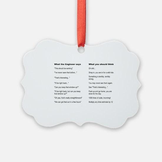 Engineer Translation Guide Ornament