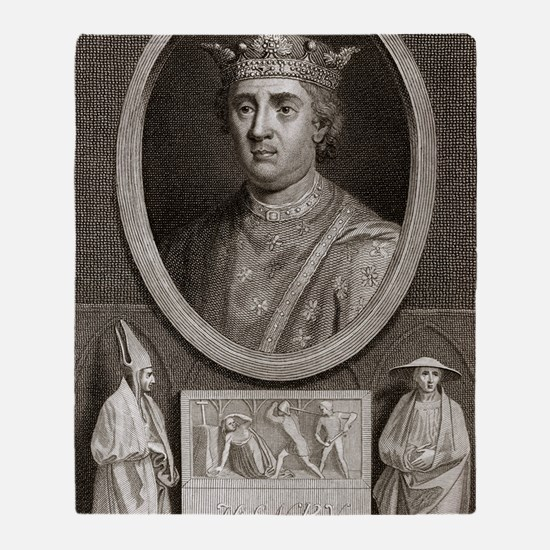 King Henry II of England Throw Blanket