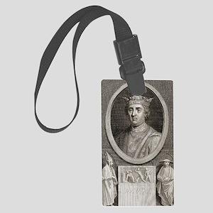 King Henry II of England Large Luggage Tag